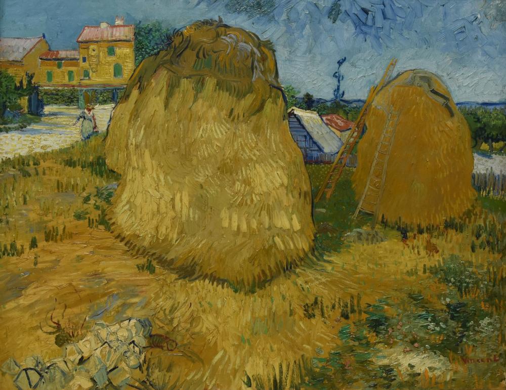 Vincent van Gogh, Provence Samanlıkta, Kanvas Tablo, Vincent Van Gogh, kanvas tablo, canvas print sales