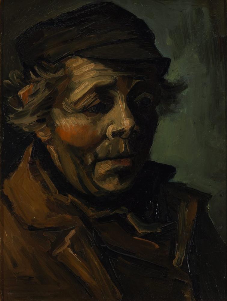 Vincent van Gogh, Bir Köylü Başı, Kanvas Tablo, Vincent Van Gogh, kanvas tablo, canvas print sales