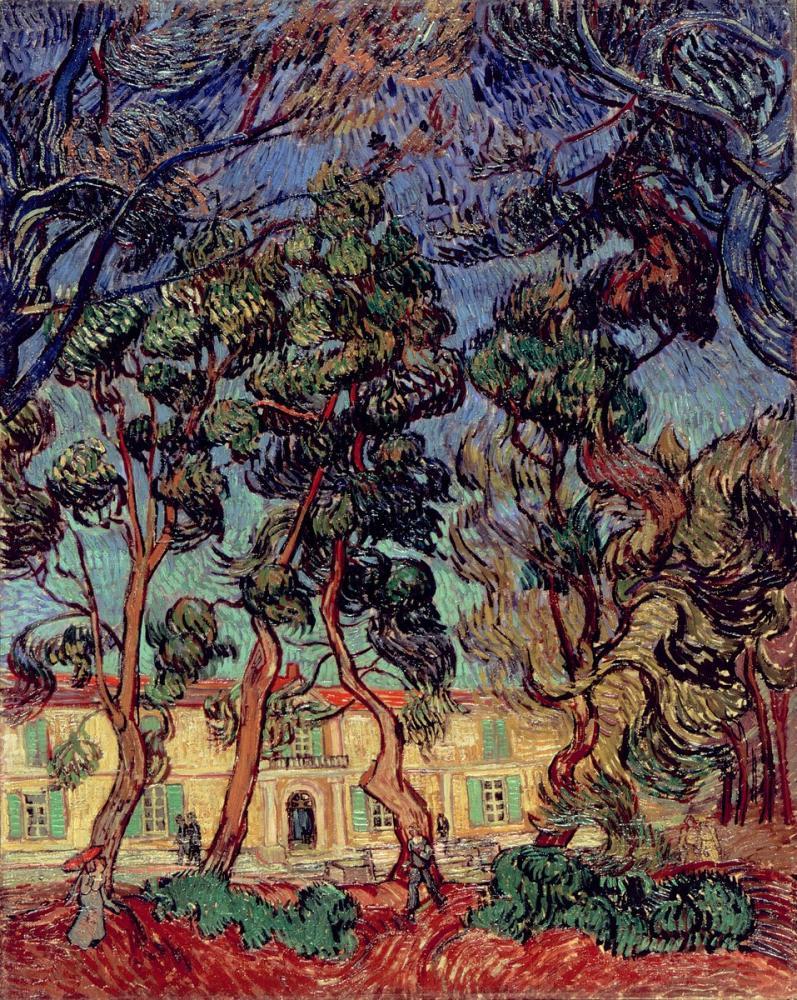 Vincent van Gogh, Hospital at Saint Remy, Canvas, Vincent Van Gogh, kanvas tablo, canvas print sales
