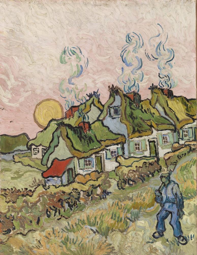 Vincent van Gogh, Evler ve Şekil, Kanvas Tablo, Vincent Van Gogh, kanvas tablo, canvas print sales