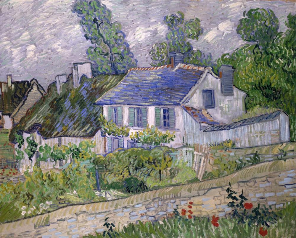 Vincent van Gogh, Houses at Auvers, Canvas, Vincent Van Gogh, kanvas tablo, canvas print sales