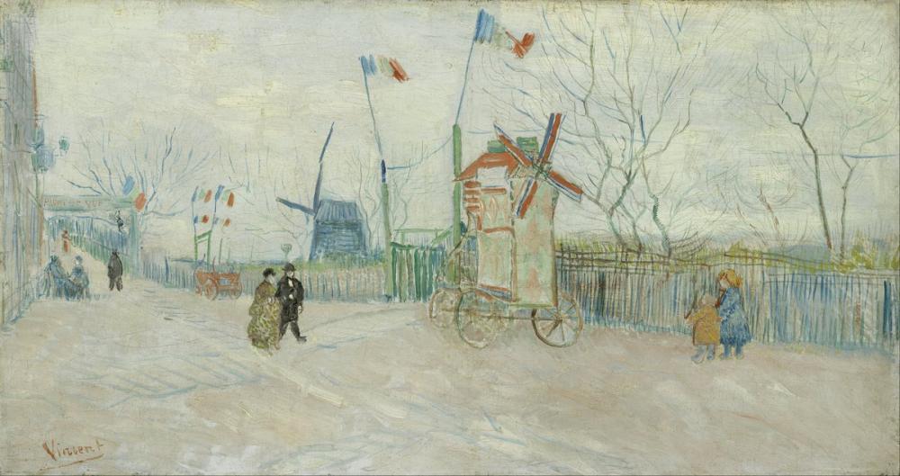 Vincent van Gogh, Impasse des Deux Frères, Canvas, Vincent Van Gogh, kanvas tablo, canvas print sales