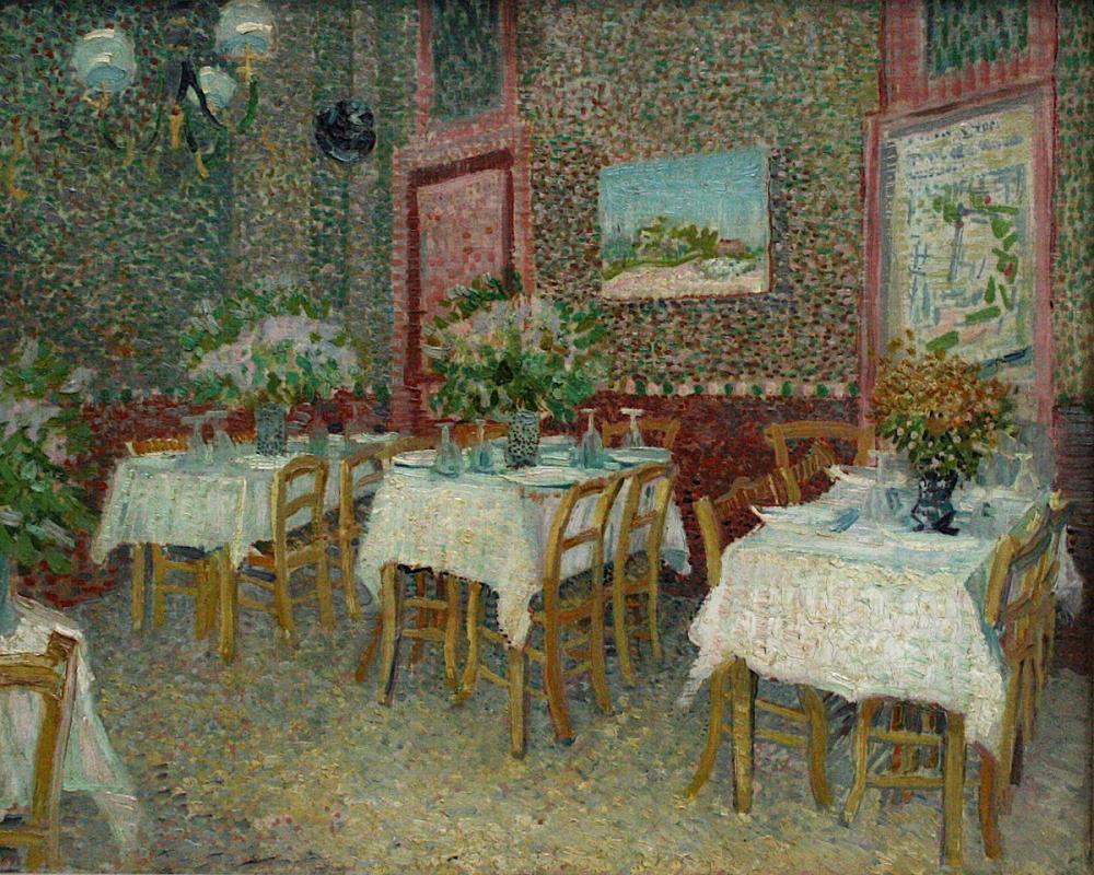 Vincent van Gogh, Interior of A Restaurant, Canvas, Vincent Van Gogh, kanvas tablo, canvas print sales