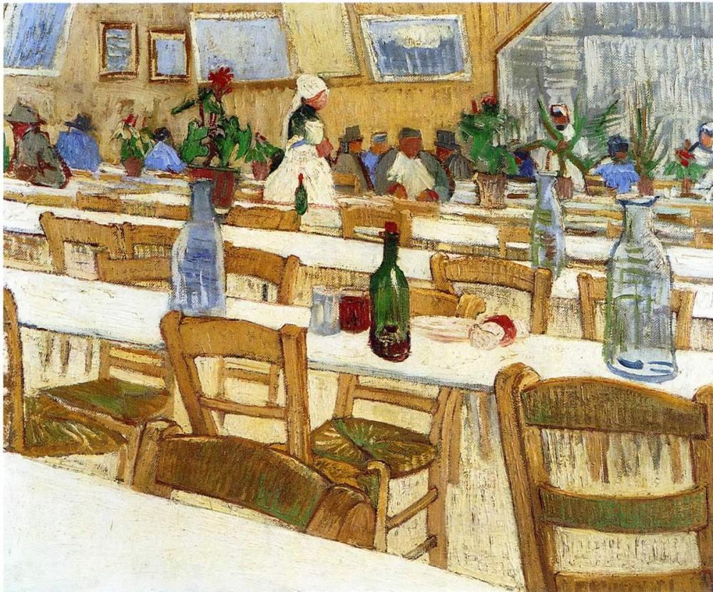 Vincent van Gogh, Bir Restoranın İç Kısımı II, Kanvas Tablo, Vincent Van Gogh, kanvas tablo, canvas print sales