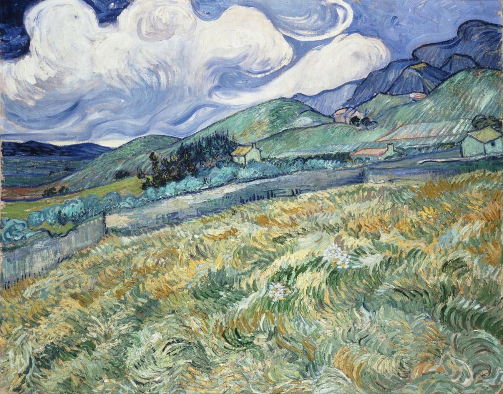 Vincent van Gogh, Landscape from Saint Rémy, Canvas, Vincent Van Gogh, kanvas tablo, canvas print sales