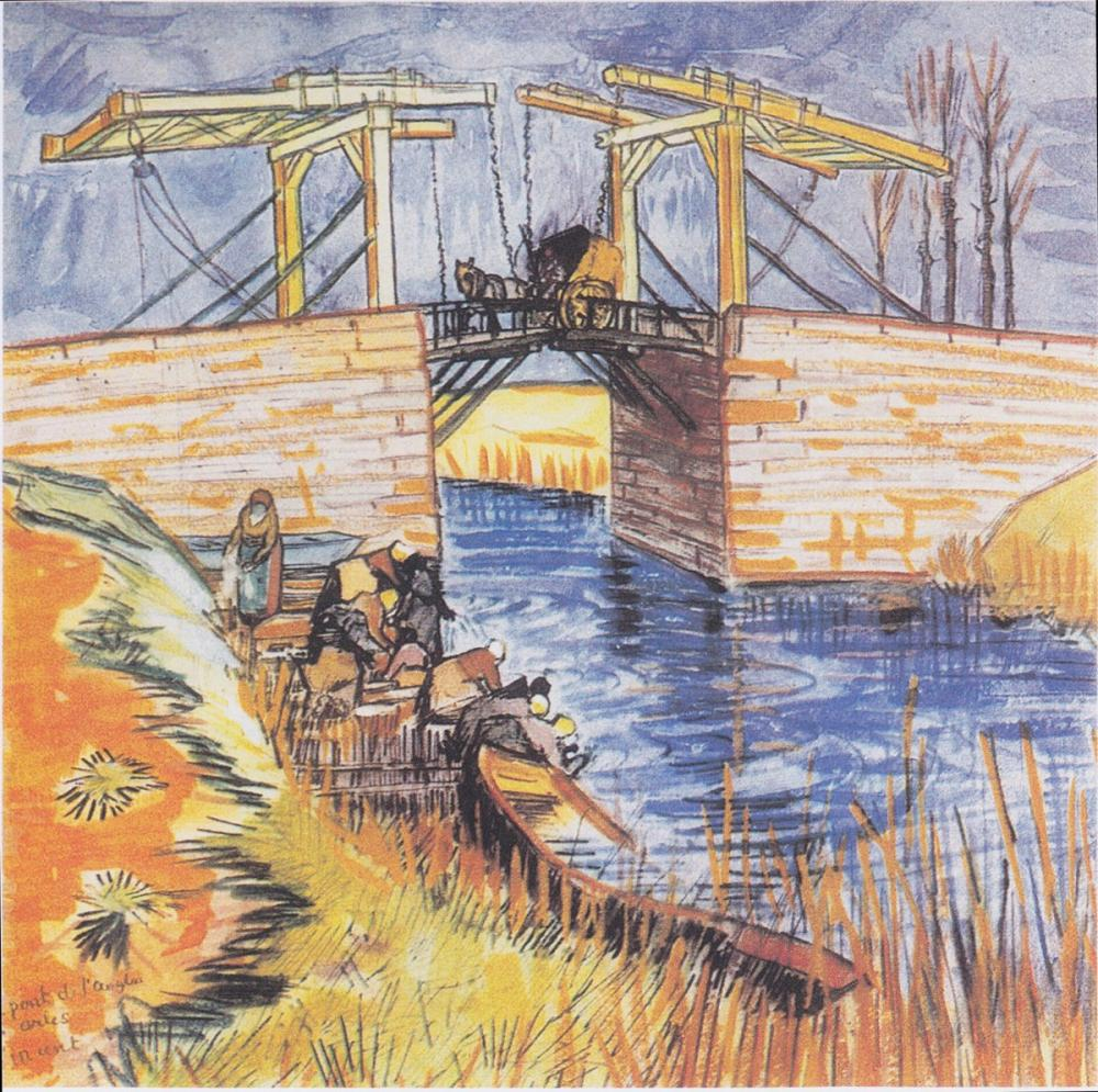 Vincent van Gogh, Langlois Bridge at Arles, Canvas, Vincent Van Gogh, kanvas tablo, canvas print sales