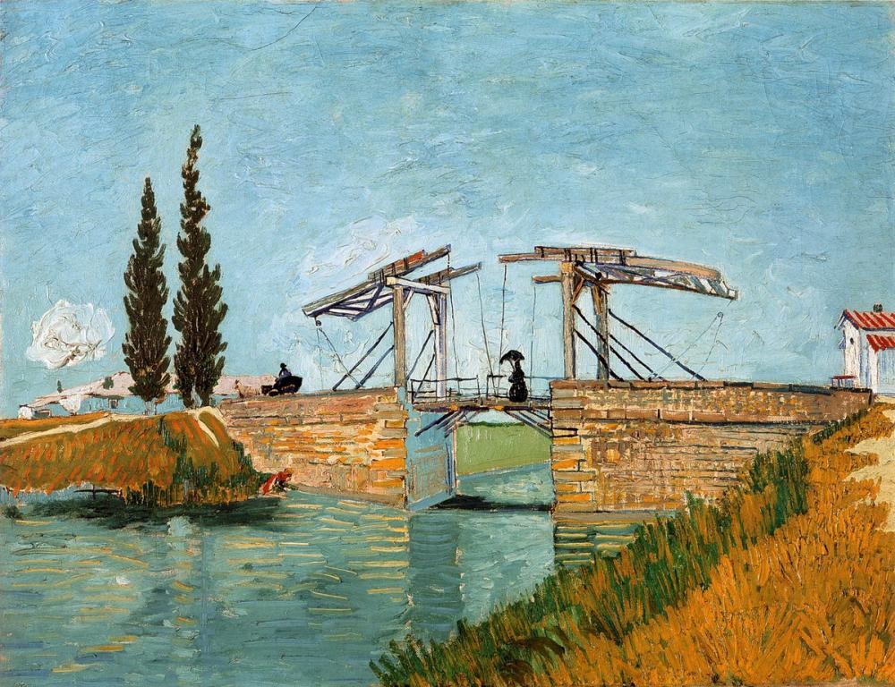 Vincent van Gogh, Langlois Bridge at Arles, Canvas, Vincent Van Gogh, kanvas tablo, canvas print sales