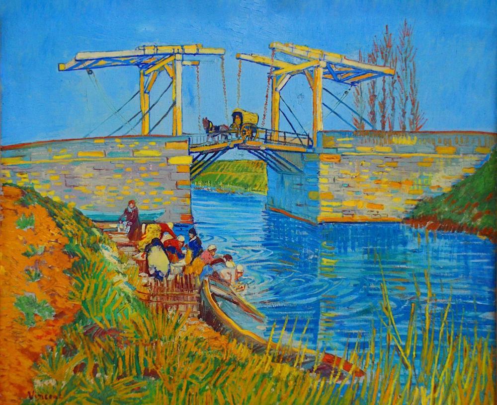 Vincent van Gogh, Langlois Bridge Pont d Arles, Canvas, Vincent Van Gogh, kanvas tablo, canvas print sales