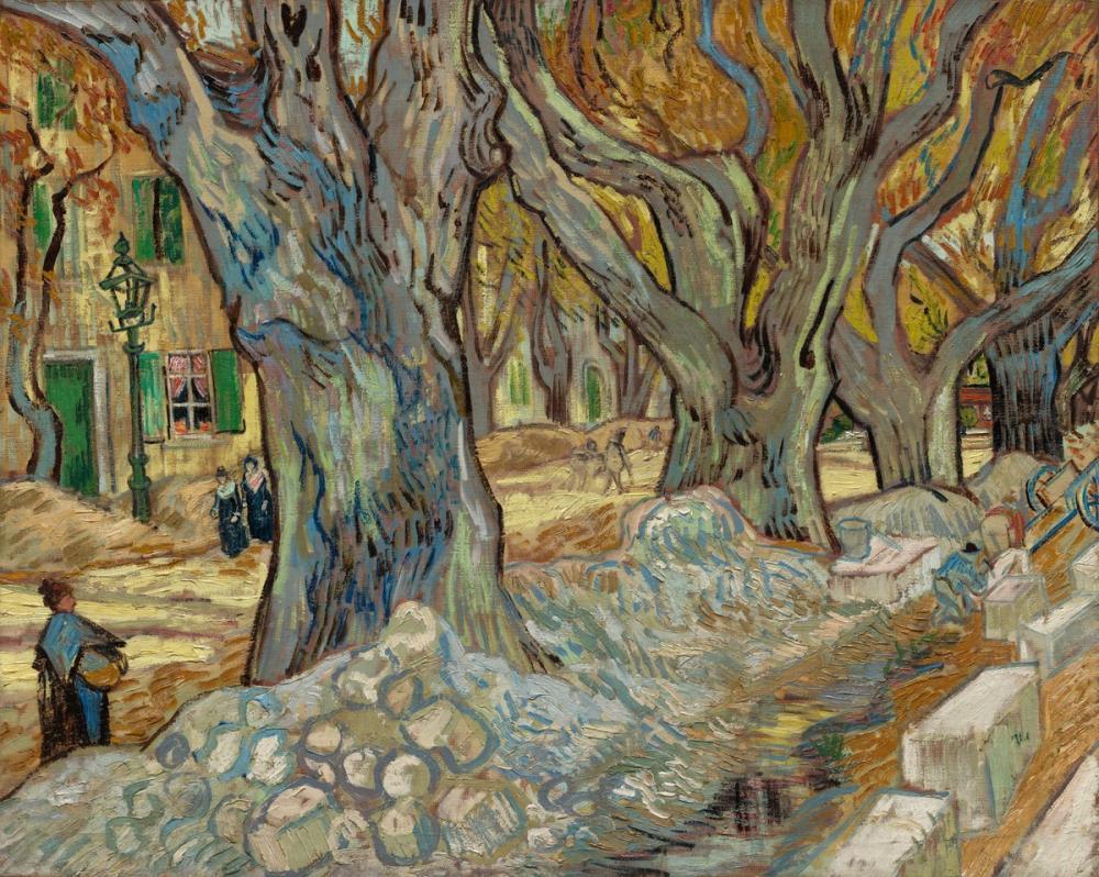 Vincent van Gogh, Large Plane Trees, Canvas, Vincent Van Gogh, kanvas tablo, canvas print sales