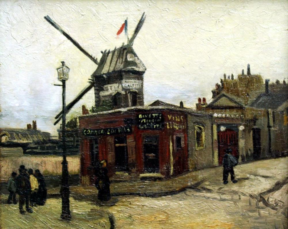 Vincent van Gogh, Le moulin de La Galette, Canvas, Vincent Van Gogh, kanvas tablo, canvas print sales