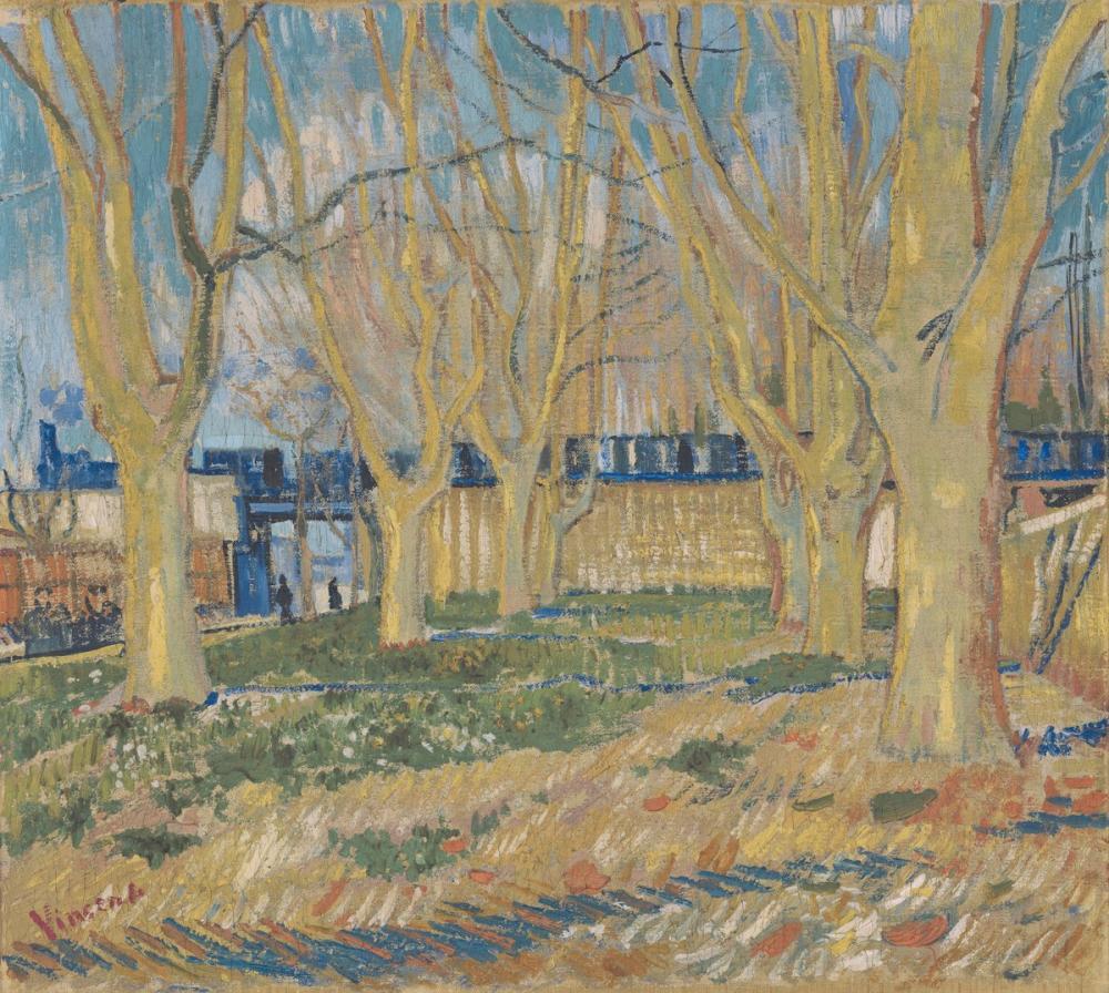 Vincent van Gogh, Mavi Tren, Kanvas Tablo, Vincent Van Gogh, kanvas tablo, canvas print sales