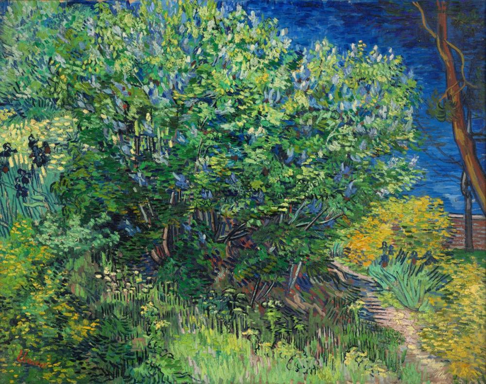 Vincent van Gogh, Lilacs Bush, Canvas, Vincent Van Gogh, kanvas tablo, canvas print sales