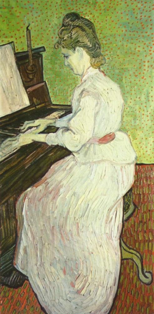 Vincent van Gogh, Piyanoda Marguerite Gachet, Kanvas Tablo, Vincent Van Gogh, kanvas tablo, canvas print sales