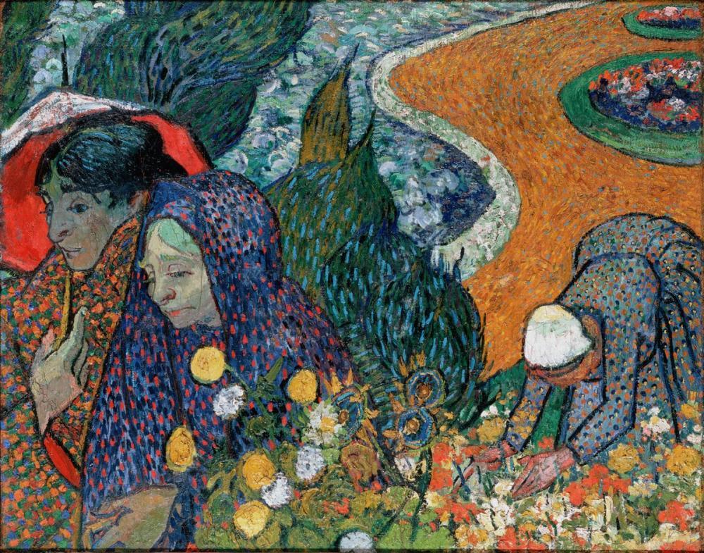 Vincent van Gogh, Arles in Bayanları Etten deki Bahçe Anısına, Kanvas Tablo, Vincent Van Gogh, kanvas tablo, canvas print sales