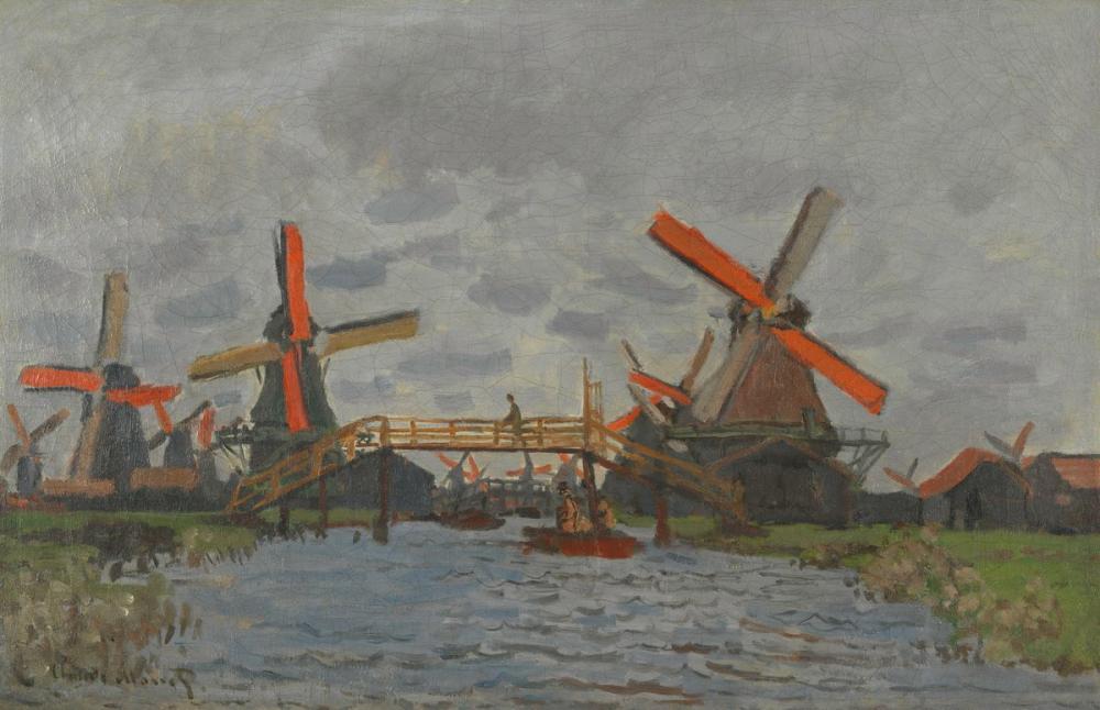 Vincent van Gogh, Zaandam daki Değirmenler, Kanvas Tablo, Vincent Van Gogh, kanvas tablo, canvas print sales