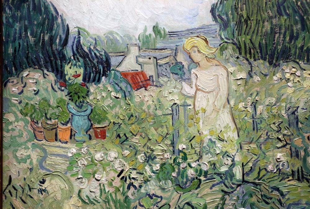 Vincent van Gogh, Jardin de Auvers, Canvas, Vincent Van Gogh, kanvas tablo, canvas print sales