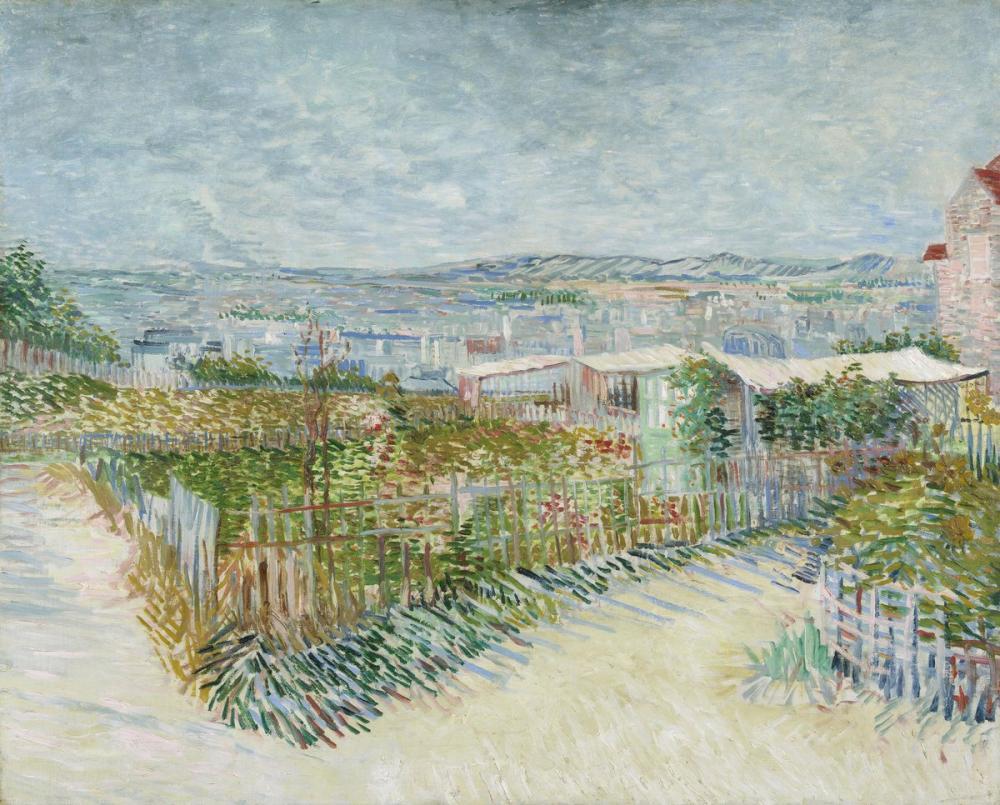 Vincent van Gogh, Montmartre Moulin de la Galette, Canvas, Vincent Van Gogh, kanvas tablo, canvas print sales
