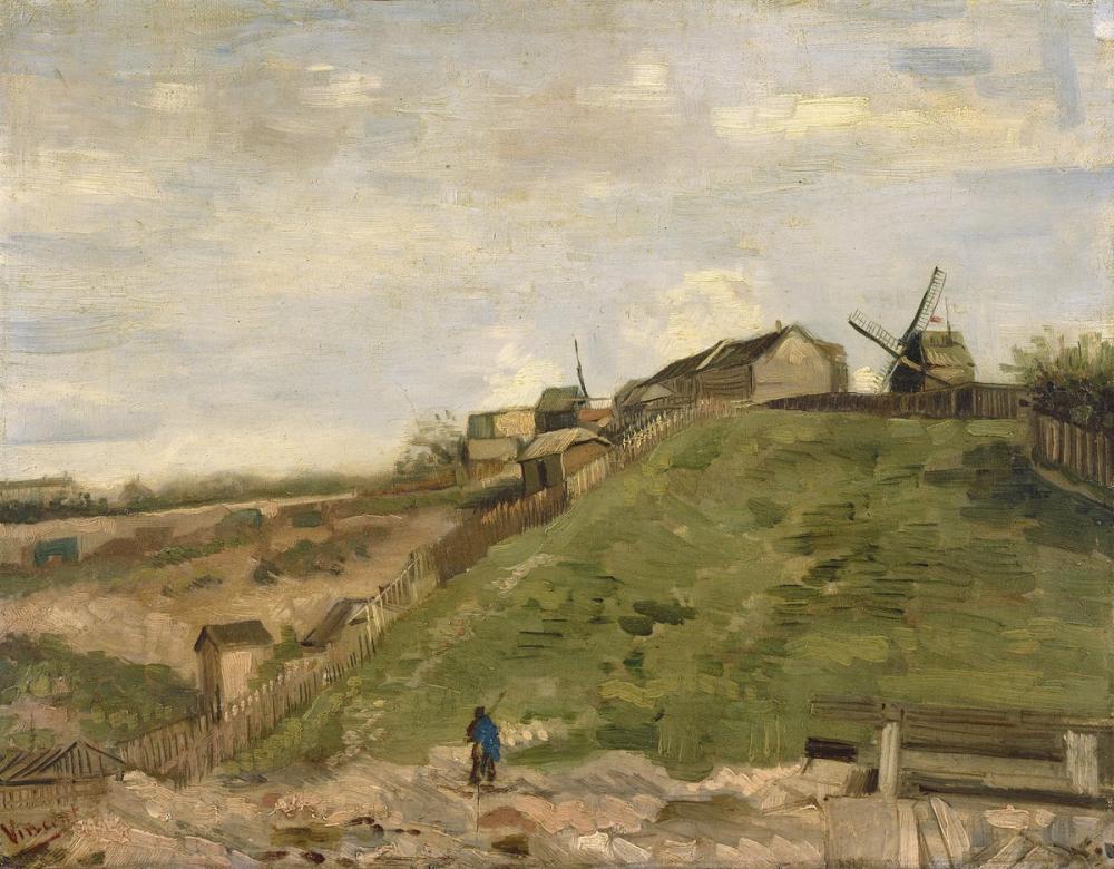 Vincent van Gogh, Taş Ocağı ile Montmartre Tepesi, Kanvas Tablo, Vincent Van Gogh, kanvas tablo, canvas print sales