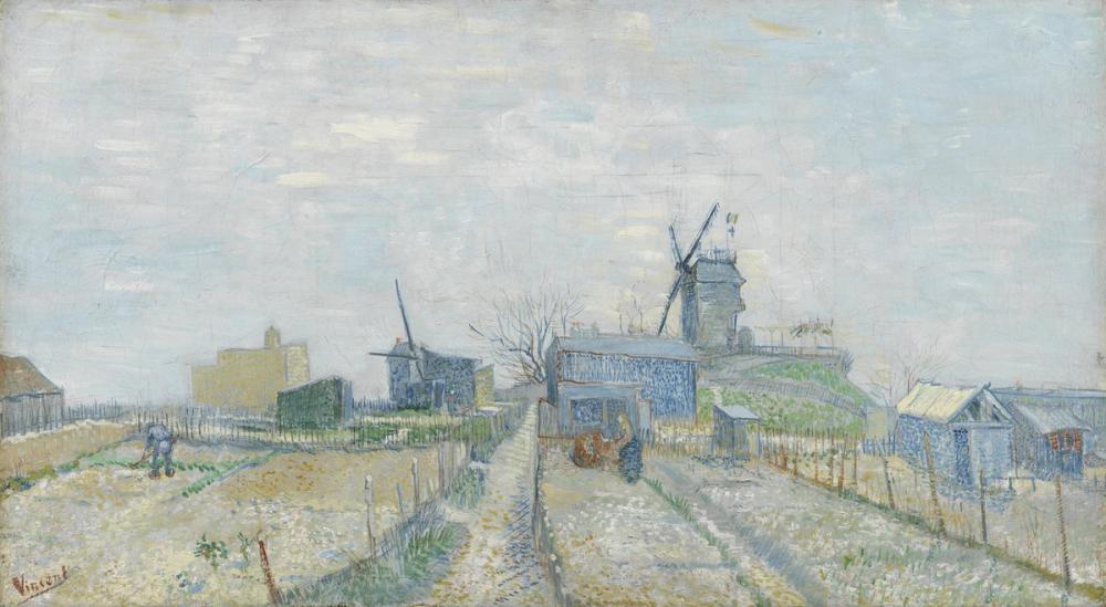Vincent van Gogh, Montmartre Mills and Vegetable Gardens, Canvas, Vincent Van Gogh, kanvas tablo, canvas print sales