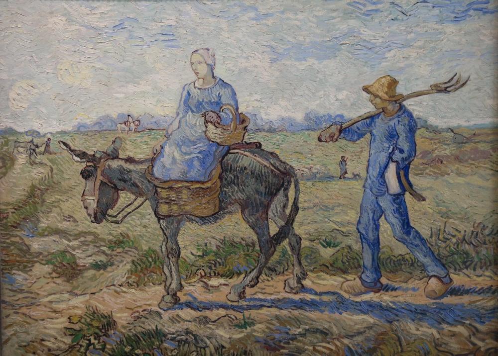 Vincent van Gogh, Sabah İşe Gidiyor, Kanvas Tablo, Vincent Van Gogh, kanvas tablo, canvas print sales