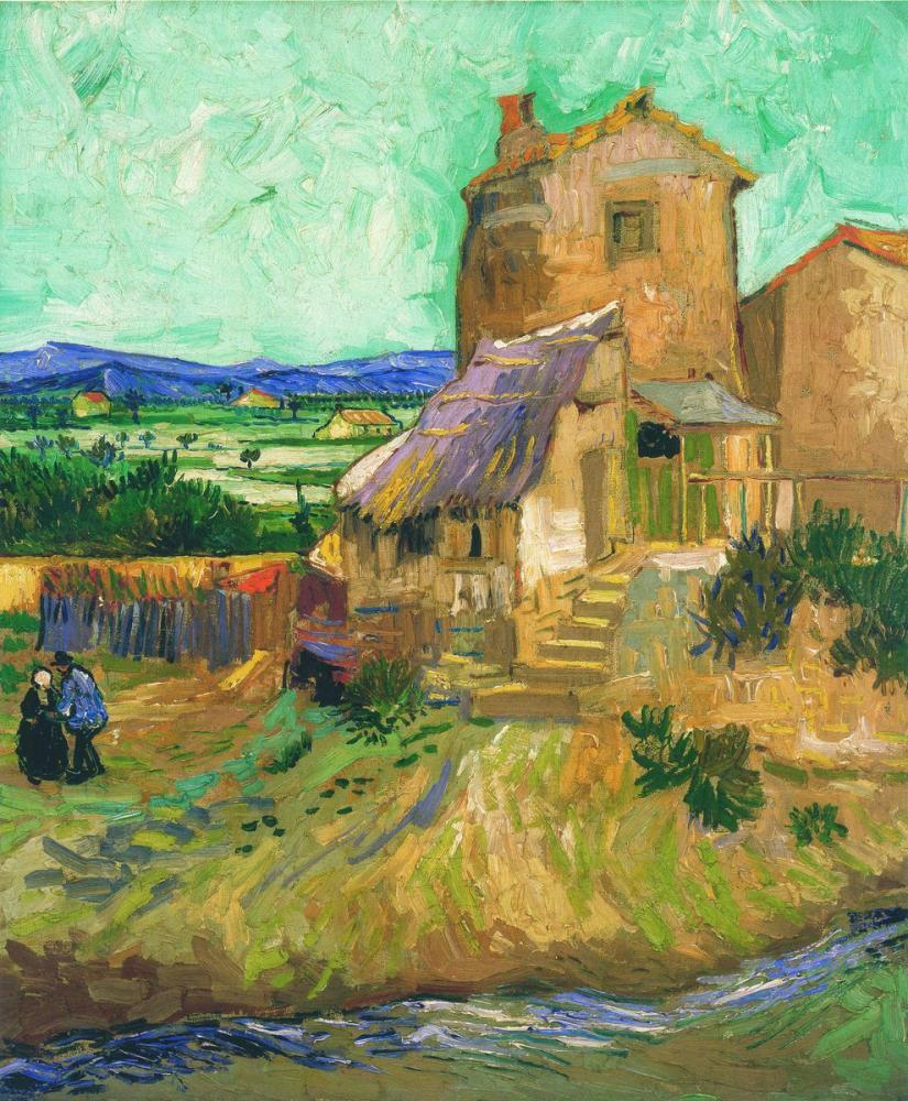 Vincent van Gogh, Eski Değirmen, Kanvas Tablo, Vincent Van Gogh, kanvas tablo, canvas print sales