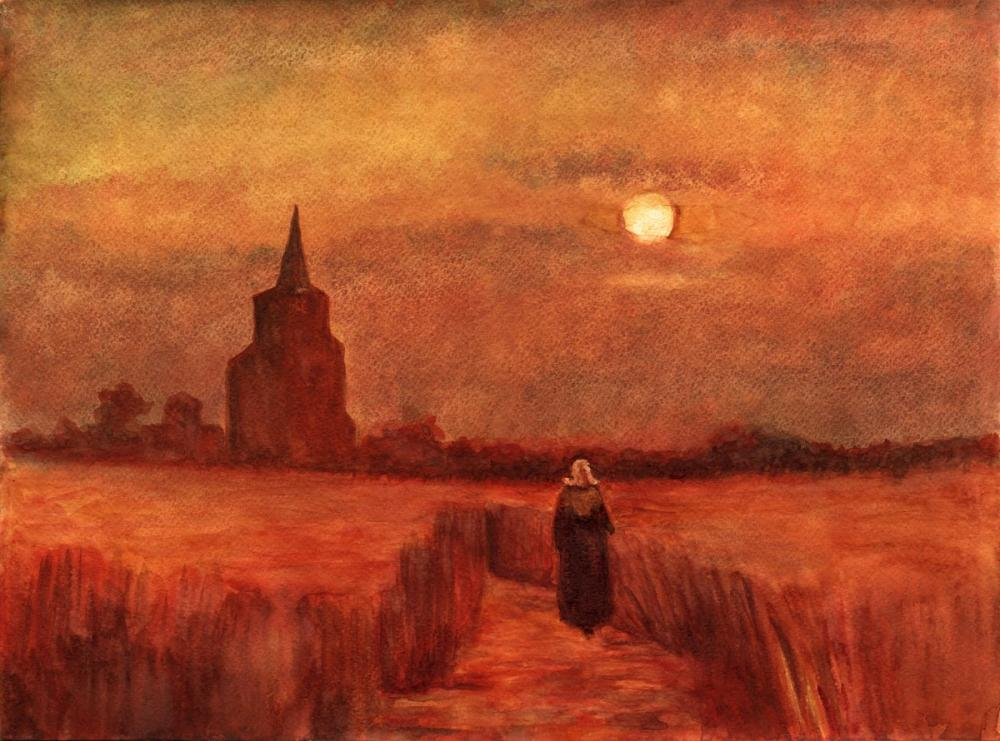 Vincent van Gogh, Old Tower, Canvas, Vincent Van Gogh, kanvas tablo, canvas print sales