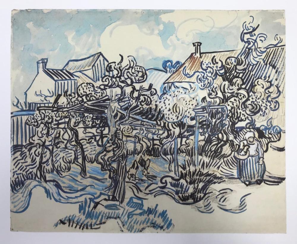 Vincent van Gogh, Old Vineyard with Peasant Woman, Canvas, Vincent Van Gogh, kanvas tablo, canvas print sales