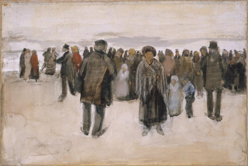 Vincent van Gogh Scheveningen Sahili, Kanvas Tablo, Vincent Van Gogh, kanvas tablo, canvas print sales