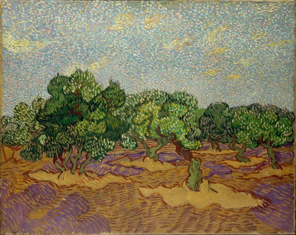 Vincent van Gogh, Olive Trees, Canvas, Vincent Van Gogh, kanvas tablo, canvas print sales