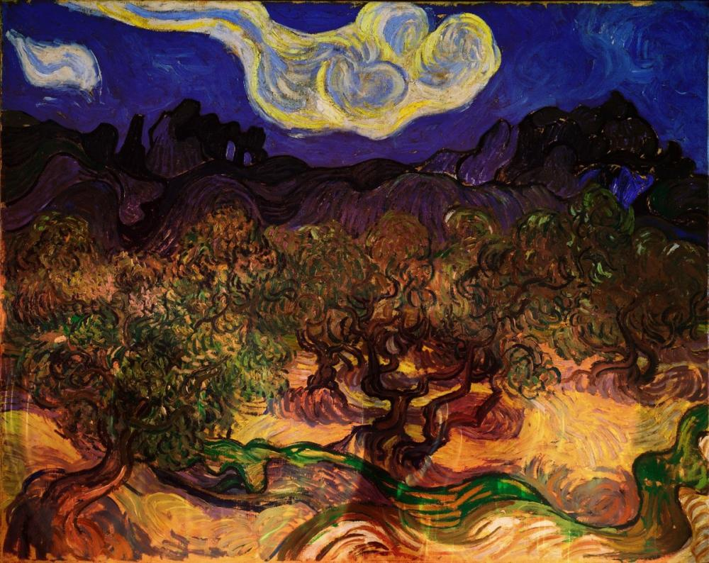 Vincent van Gogh, Olive Trees in the Night, Canvas, Vincent Van Gogh, kanvas tablo, canvas print sales