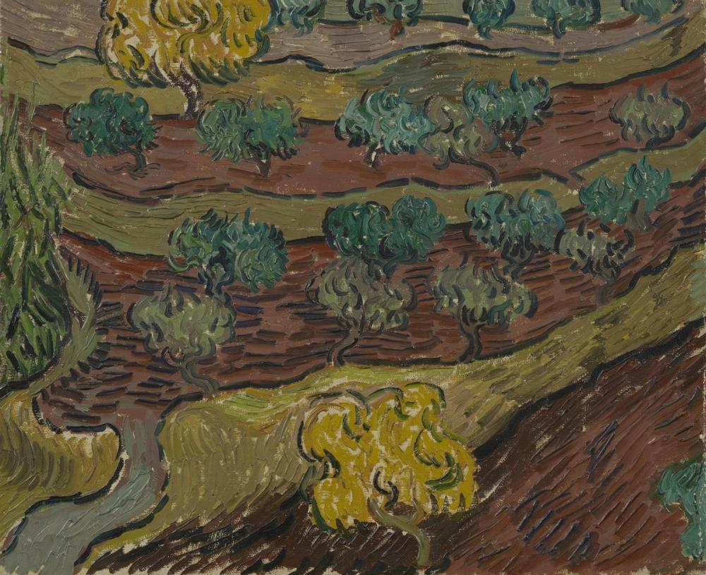 Vincent van Gogh, Dağ Yamacında Zeytin Ağaçları, Kanvas Tablo, Vincent Van Gogh, kanvas tablo, canvas print sales
