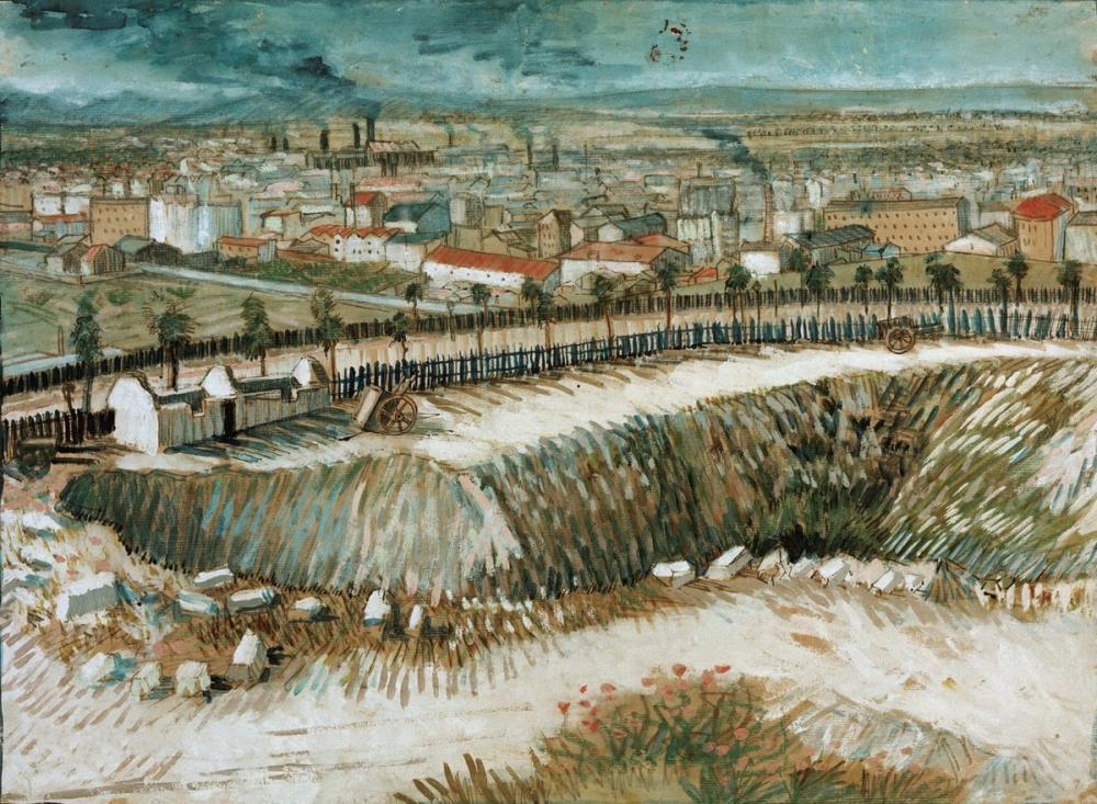 Vincent van Gogh, Paris in Eteklerinde Montmartre yakınında, Kanvas Tablo, Vincent Van Gogh, kanvas tablo, canvas print sales