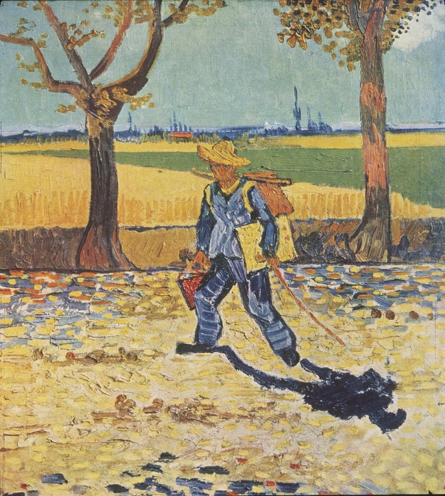Vincent van Gogh, Painter on His Way to Work, Canvas, Vincent Van Gogh, kanvas tablo, canvas print sales