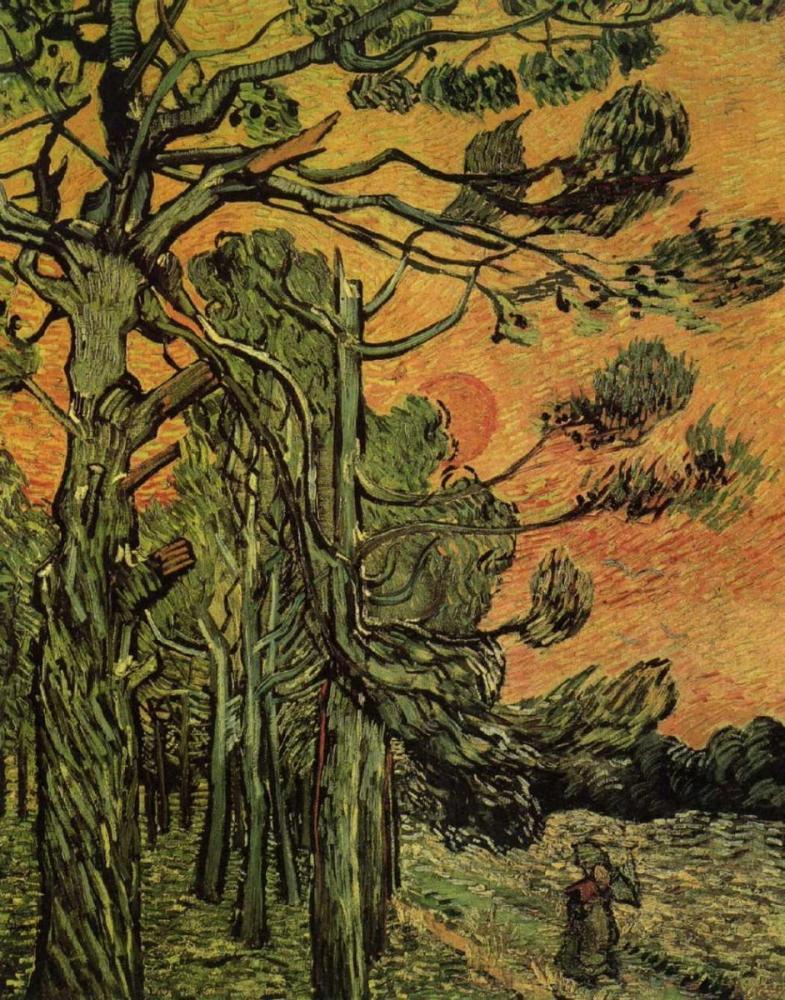 Vincent van Gogh, Palm Trees Against a Red Sky with Setting Sun, Canvas, Vincent Van Gogh, kanvas tablo, canvas print sales
