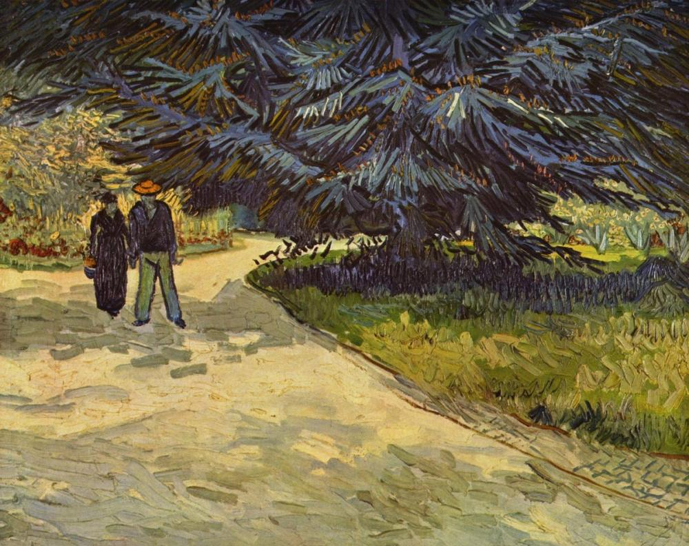 Vincent van Gogh, Park of Arles, Canvas, Vincent Van Gogh, kanvas tablo, canvas print sales