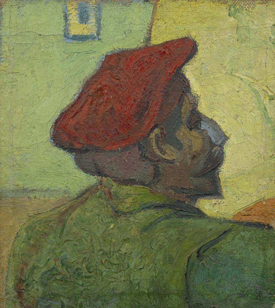 Vincent van Gogh, Kırmızı Bere İçinde Paul Gauguin, Kanvas Tablo, Vincent Van Gogh, kanvas tablo, canvas print sales