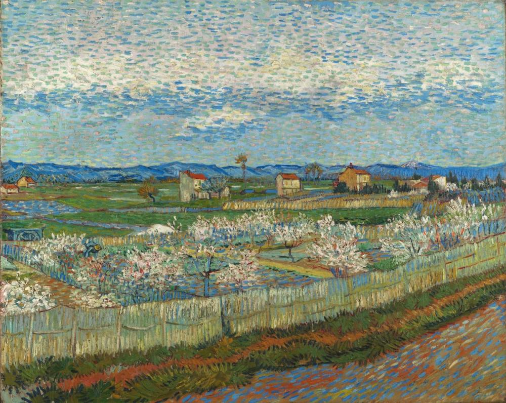 Vincent van Gogh, Peach Trees in Bloom, Canvas, Vincent Van Gogh, kanvas tablo, canvas print sales