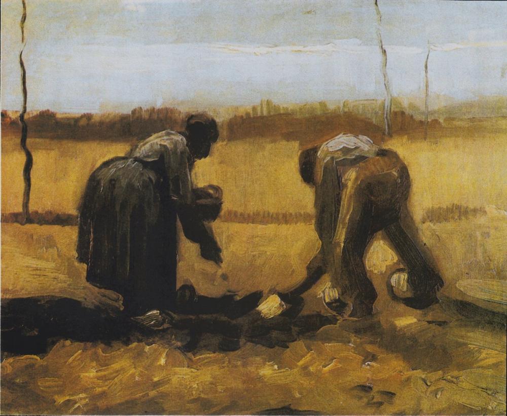 Vincent van Gogh, Patates Dikim Köylü Kadınlar, Kanvas Tablo, Vincent Van Gogh, kanvas tablo, canvas print sales