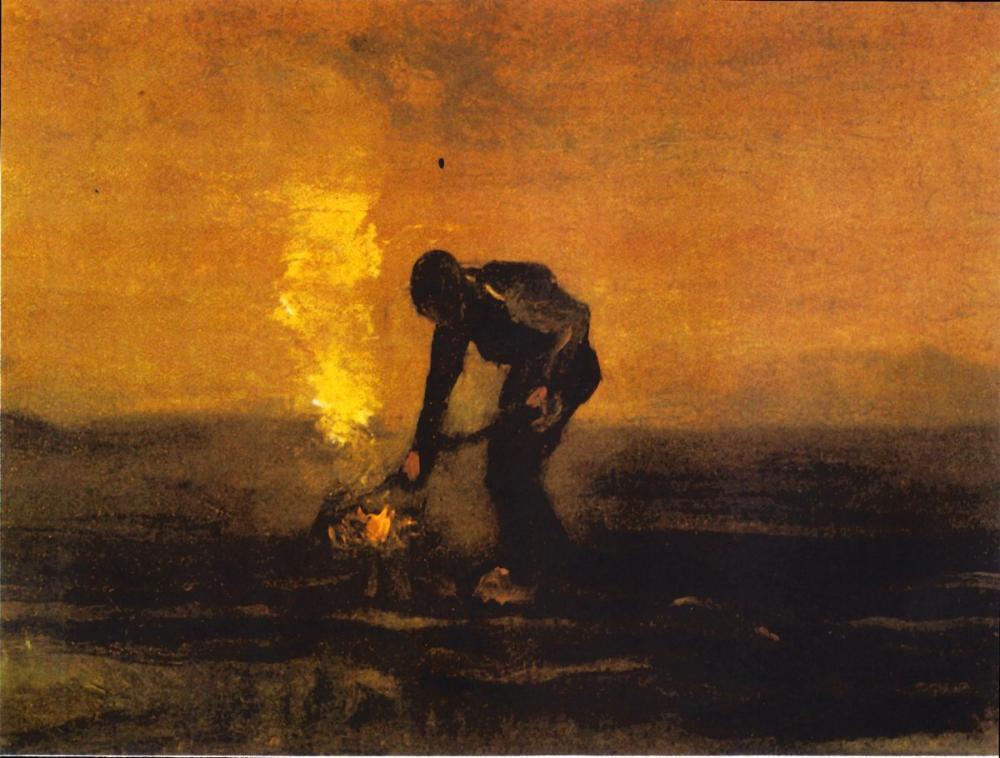Vincent van Gogh, Peasant Burning Weeds, Canvas, Vincent Van Gogh, kanvas tablo, canvas print sales