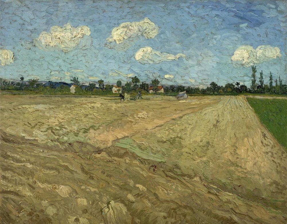 Vincent van Gogh, Sürülmüş Alanlar, Kanvas Tablo, Vincent Van Gogh, kanvas tablo, canvas print sales