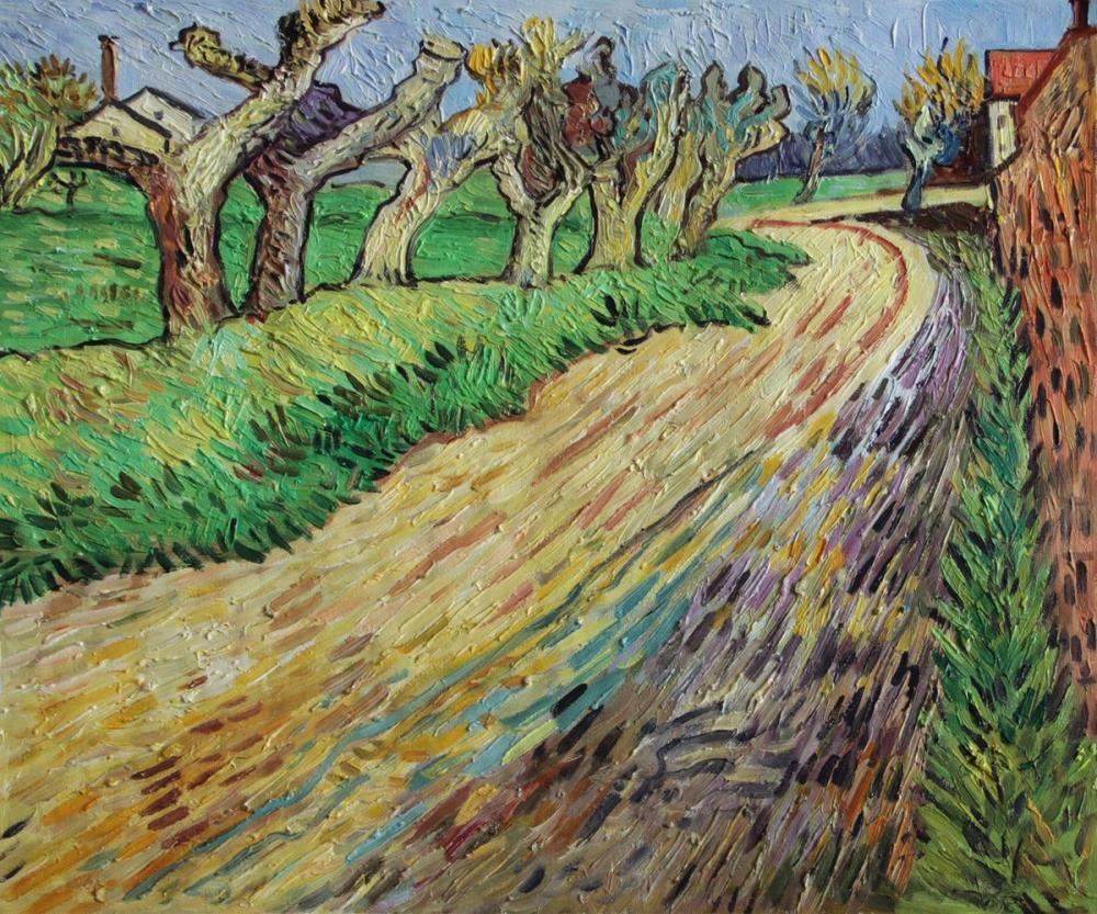 Vincent van Gogh, Pollard Willows, Canvas, Vincent Van Gogh, kanvas tablo, canvas print sales