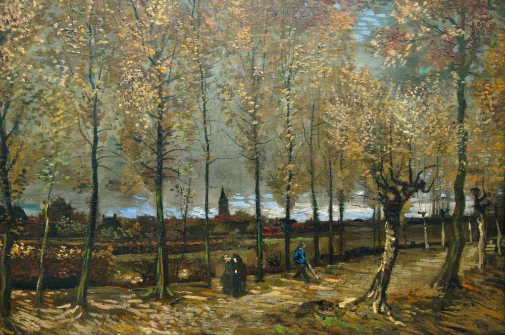 Vincent van Gogh, Poplar Avenue in Nuenen, Canvas, Vincent Van Gogh, kanvas tablo, canvas print sales