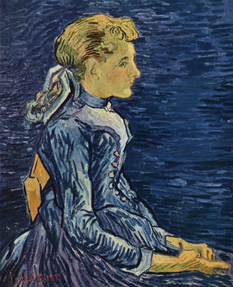 Vincent van Gogh, Adeline Ravoux Portresi, Kanvas Tablo, Vincent Van Gogh, kanvas tablo, canvas print sales