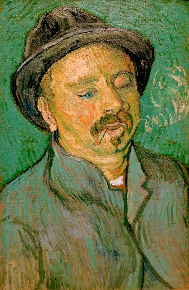 Vincent van Gogh, Tek Gözlü Bir Adam Portresi, Kanvas Tablo, Vincent Van Gogh, kanvas tablo, canvas print sales