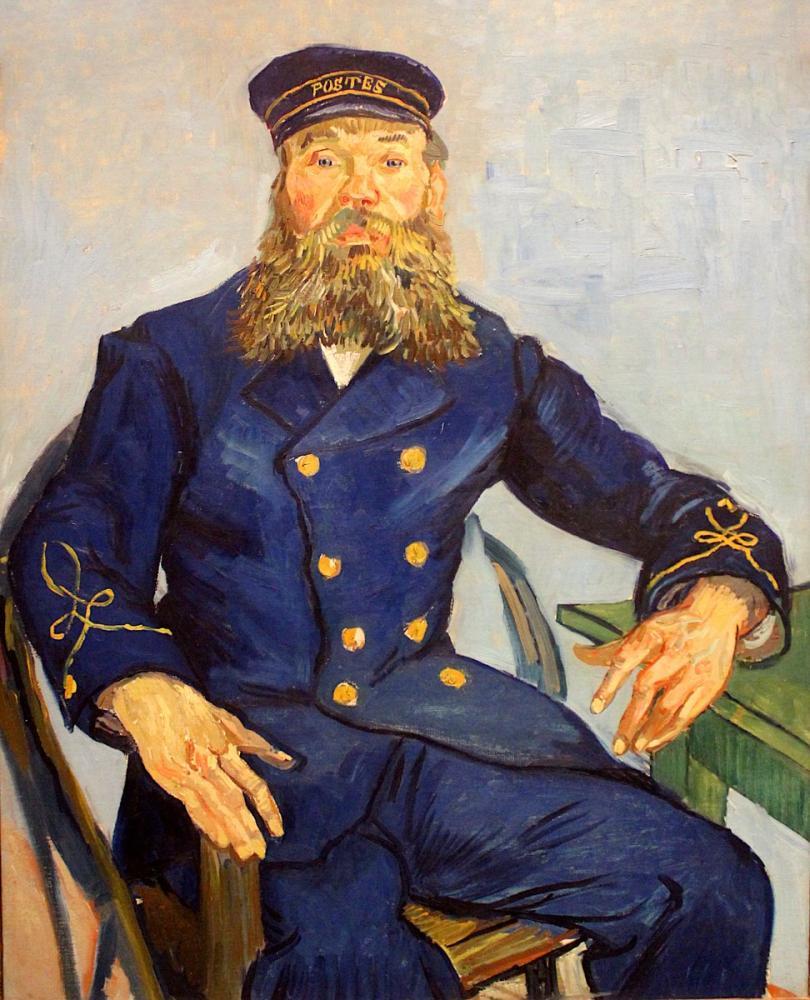Vincent van Gogh, Portrait of Josep Roulin Seated, Canvas, Vincent Van Gogh, kanvas tablo, canvas print sales