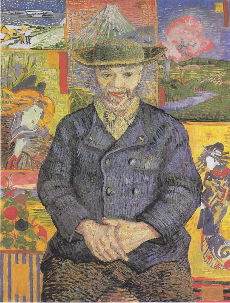 Vincent van Gogh, Pere Tanguy Portresi, Kanvas Tablo, Vincent Van Gogh, kanvas tablo, canvas print sales