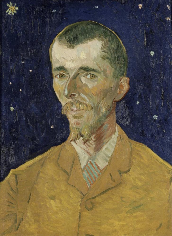 Vincent van Gogh, Belçikalı Şair Eugéne Boch un Portresi, Kanvas Tablo, Vincent Van Gogh, kanvas tablo, canvas print sales