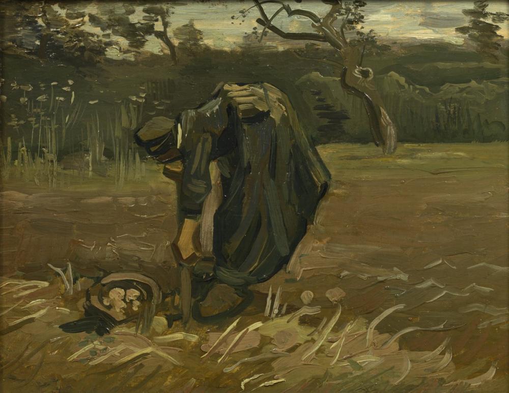 Vincent van Gogh, Potato Harvester, Canvas, Vincent Van Gogh, kanvas tablo, canvas print sales