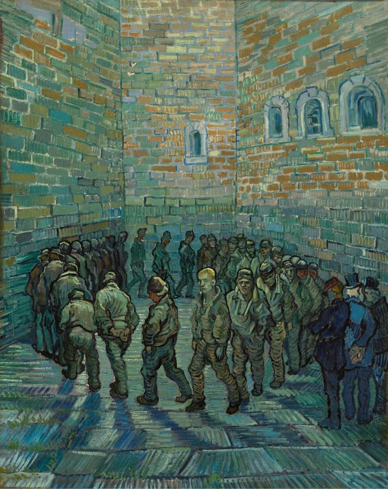 Vincent van Gogh, Prisoners Exercising, Canvas, Vincent Van Gogh, kanvas tablo, canvas print sales