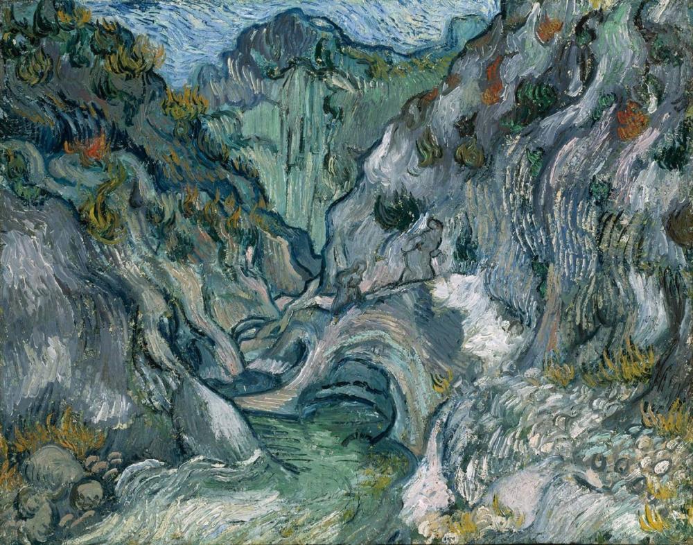 Vincent van Gogh, Ravine, Canvas, Vincent Van Gogh, kanvas tablo, canvas print sales
